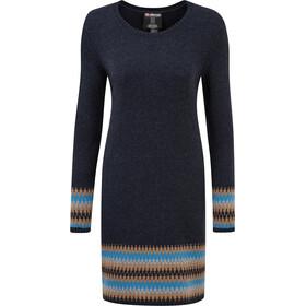 Sherpa Maya Jacquard Kleid Damen rathee blue